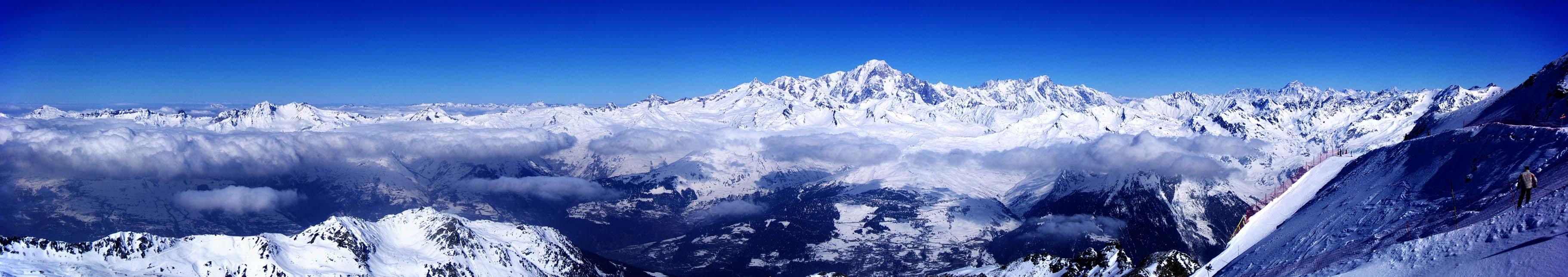 Les Arcs : Aiguille Rouge / vue sur le Mont Blanc